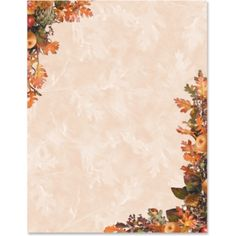 Nature's Harvest Border Papers