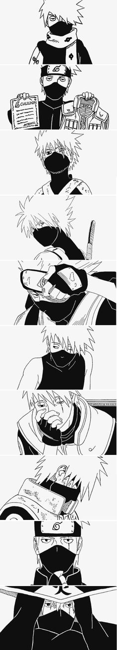 Kakashi through the years