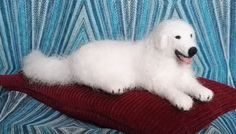 Needle Felted Great Pyrenees  Pyrenean Mountain Dog by Jistadis