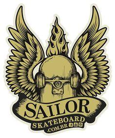 Adesivo #SailorSkateboard - Asas