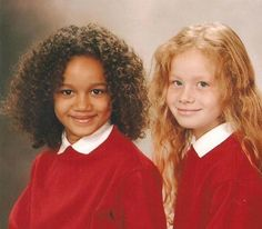 Lucy and Maria are fraternal twins, meaning they came from two different eggs and two different sets of genetics. Their mother, Donna, is of mixed race herself, and so carries genes for both white and black skin. Maria inherited the genetic code for black skin, while Lucy inherited the code for white.