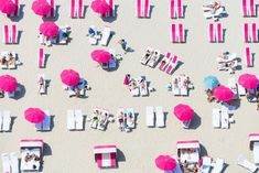 Pink Beach Club, Miami / Gray Malin