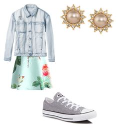 """""""Easy Breezy Beach Day"""" by mstoff ❤ liked on Polyvore featuring Chicwish, RVCA, Converse and Carolee"""