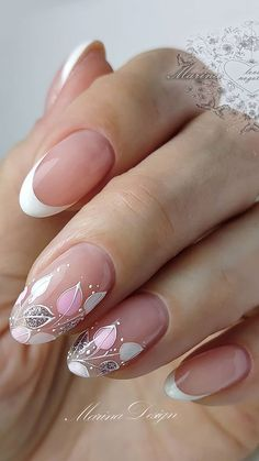 Long Square Acrylic Nails, Classy Acrylic Nails, White Acrylic Nails, Classy Nails, Sparkle Nails, Pink Nails, Glitter Nails, Manicure, Gel Nails