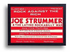 Joe Strummer Gig Poster Print by indieprints on Etsy, $20.00