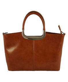 That's a great-looking professional leather tote for under $100. Tan & Gold Leather Tote on #zulily