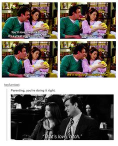 Best relationships of all time: Marshall & Lily (HIMYM) - Parent How I Met Your Mother, Parenting Done Right, Parenting Teens, Parenting Humor, Lily Himym, Series Movies, Tv Series, I Meet You, Told You So