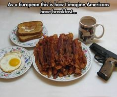 Funny pictures about True American Breakfast. Oh, and cool pics about True American Breakfast. Also, True American Breakfast photos. Breakfast In America, Eat Breakfast, Balanced Breakfast, Perfect Breakfast, Breakfast Ideas, Hangover Breakfast, Funny Breakfast, Breakfast Quotes, Southern Breakfast