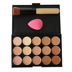 Shouhengda Facial Foundation Concealer Cream Palette Powder   Brush Sponge Puff Makeup A06 ** This is an Amazon Affiliate link. Check out the image by visiting the link.