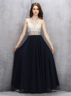 7188fc581401 A-Line Jewel Key Hole Black Prom Dress with Sequins Open Back