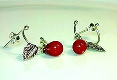 amazon.com/dp/B01N90CQLH  Sterling Silver Red Coral Teardrop Beads with Leaf Drop Earrings #coral #red #beads #bead #earrings #earring #earringsoftheday #jewelry #fashion #accessories #earringaddict #earringstagram #fashionista #girl #stylish #love #beautiful #piercing #piercings