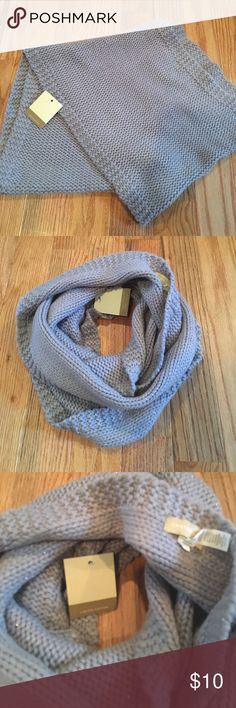 Infinity scarf Gray infinity scarf . Very warm for winter months . Has a little bit of sparkle to it. NWT . Originally purchased at Target Accessories Scarves & Wraps