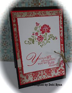 Stampin Up Roses