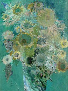 Jimmy Wrightartist 'Flowers in Murano Vase'