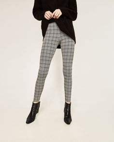 Image 2 of JACQUARD LEGGINGS from Zara