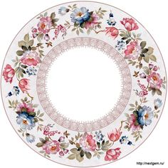 Round floral frames for decoupage 2. - 29 (700x700, 310Kb)