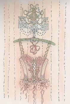 Corset illustration by Jennelise Rose