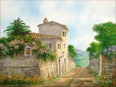 Country Path Painting by Luciano Torsi