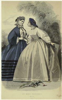 Les modes parisiennes. May 1864