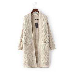 Dunland Womens Cable Knit Twist Knit Slim Sweater Long Cardigan Grandpa Sweater Beige Medium Dunland http://www.amazon.com/dp/B014DS7DRM/ref=cm_sw_r_pi_dp_fEJ8vb1BPYZRT