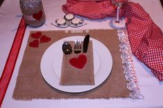 Valentines table decor.