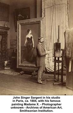 John Singer Sargent with my favorite painting in the whole world!