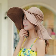 Chic Knotted Lace-Up Embellished Superwide Brim Straw Hat For Women