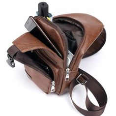 Men Large Size Outdoor USB Charging Port Chest Bag Travel Daypack Sling Bag Crossbody Bag For Men is hot-sale, many other cheap crossbody bags on sale for men are provided on NewChic Mobile. Cheap Crossbody Bags, Leather Crossbody Bag, Usb, Moda Online, Plein Air, Online Bags, Bag Sale, Travel Bags, Travel Backpack