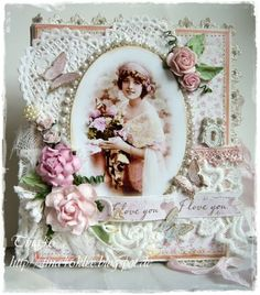 Morning All, Sandy here; today Tina has got a real treat for you, as she's made one of her famous book cards! The theme for this week. Album Vintage, Vintage Scrapbook, Scrapbook Cards, Shabby Chic Karten, Shabby Chic Cards, Vintage Crafts, Vintage Shabby Chic, Etiquette Vintage, Up Book