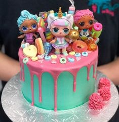 These are some of our LOL doll cake designs. Doll Birthday Cake, Funny Birthday Cakes, 6th Birthday Parties, Shopkins Birthday Cake, Shopkins Cake, 8th Birthday, Birthday Ideas, Doll Cake Designs, Bolo Sofia