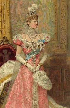 1902 Princess of Wales Mary in court dress
