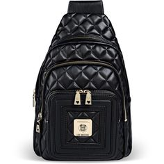 Love Moschino Medium Fabric Bag ($148) ❤ liked on Polyvore featuring bags, handbags, shoulder bags, black, love moschino, black handbags, black purse, quilted handbags and love moschino purse