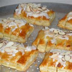 Almond Bear Claws Allrecipes.com  Substitute 1/8 tsp. almond extract for the amaretto liqueur