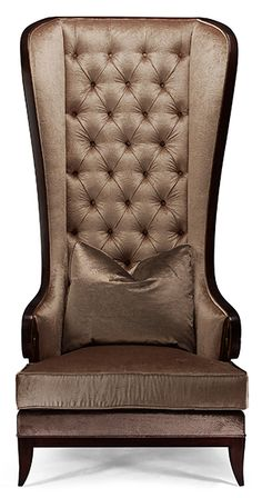 Christopher Guy high-back tufted wing chair