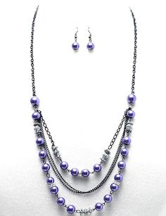 Beaded Necklace Ideas | Home > Jewelry > Necklaces > Arianna Long Beaded Necklace Purple