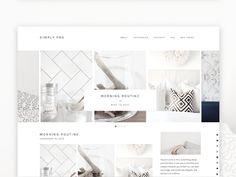 Simply- Responsive Wordpress Theme by Bloom Blog Shop on Creative Market