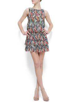 Mango Ruffled Dress ($75)