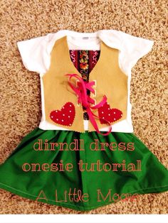 Dirndl Dress Onesie Tutorial