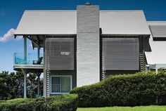 @fielderssteel offer a wide range of innovative roofing solutions for your next domestic project. From corrugated to cladding systems, we have options to suit any project. Contact us today to find out more: fielders.com.au (@colorbondsteel: Shale Grey) House Roof, Facade House, House Facades, Roof Colors, House Colors, Apex Building, Colorbond Roof, Exterior Color Schemes, Colour Schemes