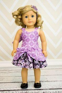 Poppy's Peekaboo Dress Doll - via American Girl Outfits, American Girl Dress, American Doll Clothes, American Girls, Sewing Doll Clothes, Girl Doll Clothes, Girl Dolls, Ag Dolls, Create Kids Couture