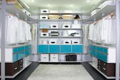 My closet is about 1/4 of this size, and though mostly organized, it could be better. Like this, and love the pop of color!