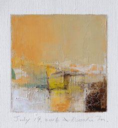 Il sagit dune peinture à lhuile abstraite Original par Hiroshi Matsumoto  Titre: 19 juillet 2016 Taille : 9,0 cm x 9,0 cm (env. 4 « x 4 ») Taille du canevas : 14,0 cm x 14,0 cm (env. 5,5 « x 5.5 ») Médias : Huile sur toile Année : 2016  Il sagit de ma peinture quotidienne appelée peinture 9 x 9 et le titre est la date que jai créé cette peinture.  Peinture vient avec des nattes.  Peinture est dépoli et en écru pour adapter le cadre standard 8 pouces x 10 pouces (non fourni) et livré avec le…