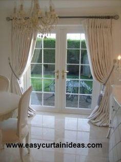French Door Window Treatment Idea