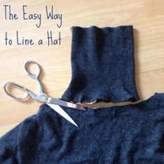 Upcycle, kids -- The Easy Way to Line a Hat | Alaska Knit Nat
