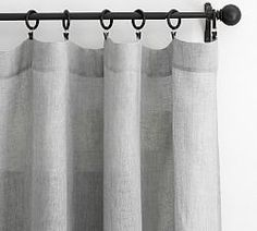 Find Belgian linen curtains from Pottery Barn and dress up your windows in style. Our collection features expertly crafted Belgian linen drapes and window panels. Sheer Linen Curtains, Grey Blackout Curtains, Drop Cloth Curtains, Burlap Curtains, Grey Curtains, Grommet Curtains, Hanging Curtains, Valance, Bed Linen