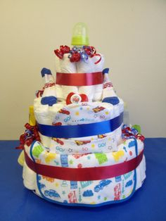 Disney Cars diaper cake   everything you need for the baby