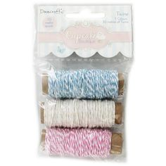 Cupcake Boutique Twine - Pack Of 3 | Craft Thread at The Works