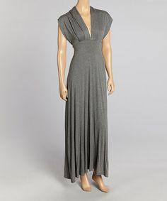 Gray Fitted Maxi Dress #zulily #zulilyfinds