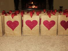 These are the BEST valentines goo bags. Download and Save this ideas about The 20 Best Ideas for Valentine Gift Bag Ideas  Now My Funny Valentine, Kinder Valentines, Valentines Day Birthday, Birthday Crafts, Valentine Day Crafts, Valentine Stuff, Valentine Ideas, Valentinstag Party, Valentines Goodie Bags
