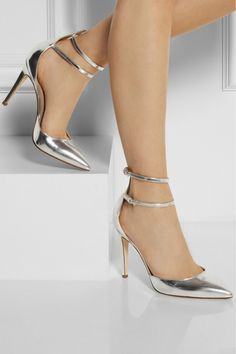 Cool J.Crew Strappy Mirror Metallic Leather Pumps High Heels Size 7.5  $299 2017-2018 Check more at http://dressesshop.top/product/j-crew-strappy-mirror-metallic-leather-pumps-high-heels-size-7-5-299-2017-2018/